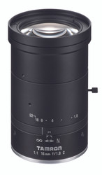 "Tamron M111FM16 1.1"" 16mm F1.8 Manual Iris C-Mount, 12 Megapixel Rated"