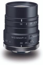 "Navitar NMV-12M1 1"" 12.5mm F1.4 Manual Iris C-Mount Lens, 2 Megapixel Rated"