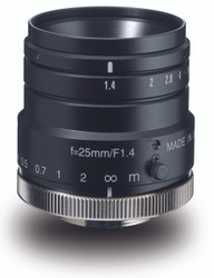 "Navitar NMV-25M1 1"" 25mm F1.4 Manual Iris C-Mount Lens, 2 Megapixel Rated"