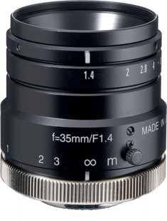 "Navitar NMV-35M1 1"" 35mm F1.4 Manual Iris C-Mount Lens, 2 Megapixel Rated"