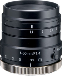 "Navitar NMV-50M1 1"" 50mm F1.4 Manual Iris C-Mount Lens, 2 Megapixel Rated"