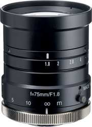 "Navitar NMV-75M1 1"" 75mm F1.8 Manual Iris C-Mount Lens, 2 Megapixel Rated"