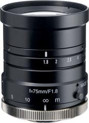 "Navitar NMV-75M1 1"" 75mm F1.8 Manual Iris C-Mount Lens, 2 Megapixel Rated"