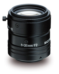 "Kowa LM35JC1MS 2/3"" 35.0mm F2.0 Manual Iris C-Mount Lens w/ Locking Screws and Marking Settings for Iris and Focus"