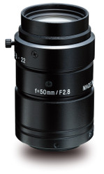 "Kowa LM50JC1MS 2/3"" 50.0mm F2.8 Manual Iris C-Mount Lens w/ Locking Screws and Marking Settings for Iris and Focus"