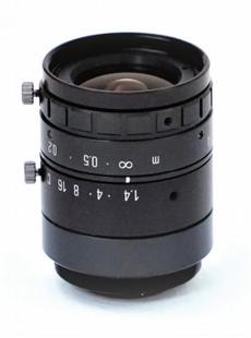 "VS Technology SV-0914H 2/3"" 9mm F1.4 Manual Iris C-Mount Lens, 5 Megapixel Rated"