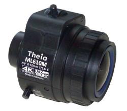 "Theia Technologies ML610M 2/3"" 6-10mm F1.7 Manual Iris Vari-Focal C-Mount Lens, IR Corrected (Day/Night), 4K Ultra HD, 12 Megapixel Rated"