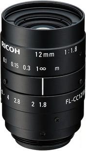"Ricoh FL-CC1218-5MX 2/3"" 12mm F1.8 Manual Iris C-Mount Lens, 5 Megapixel Rated"