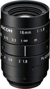 "Ricoh FL-CC1618-5MX 2/3"" 16mm F1.8 Manual Iris C-Mount Lens, 5 Megapixel Rated"