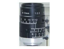 "AZURE Photonics  AZURE-0812Z5M 1/2.5"" 8-12mm F2.5 Manual Iris Vari-Focal C-Mount Lens, 5 Megapixel Rated"