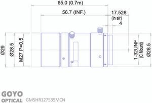 "Goyo Optical GM5HR127535MCN 1/1.2"" 75mm F3.5 Manual Iris C-Mount Lens, 5 Megapixel Rated"