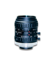 "AZURE Photonics AZURE-2518SWIR 1"" 25mm F1.8 Manual Iris C-Mount Lens, SWIR Type (900-1700nm) 5 Megapixel Rated"