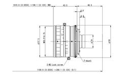 VS Technology VS-L2526/F 25mm F2.6 Manual Iris C-Mount Lens, 29mm Image Circle