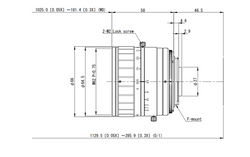 VS Technology VS-L5028/F 50mm F2.8 Manual Iris C-Mount Lens, 45mm Image Circle