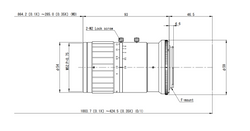 VS Technology VS-L8540/F 85mm F4.0 Manual Iris C-Mount Lens, 50mm Image Circle