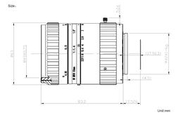 "AZURE Photonics NV5014SWIR 4/3"" 50mm F1.4 Manual Iris M42x1 Mount Lens, SWIR Type (900-1700nm)"