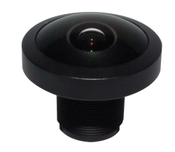 "FOCtek M12-1.0IR(5MP)-F1.0mm  1/3.2"" 1.0mm Fisheye Type F2.2 Fixed Iris M12 Mount (S-Mount) Lens, IR Corrected, 5 Megapixel Rated"