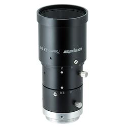 "Computar M7528-MPW3 2/3"" 75mm F2.8 Manual Iris C-Mount Lens, Ultra Low Distortion, 6 Megapixel Rated"