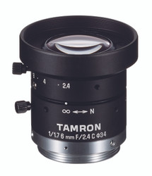 "Tamron M117FM06 1/1.7"" 6mm F2.4 Manual Iris C-Mount Lens, 6 Megapixel Rated"