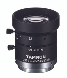 "Tamron M117FM08 1/1.7"" 8mm F2.4 Manual Iris C-Mount Lens, 6 Megapixel Rated"