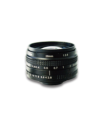 AZURE Photonics AZURE-2828MT 28mm F2.8 Manual Iris T-Mount (M42x1) Lens, 43mm Image Circle, 5 Megapixel Rated
