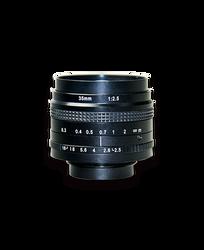 AZURE Photonics AZURE-3525MT 35mm F2.5 Manual Iris T-Mount (M42x1) Lens, 43mm Image Circle, 5 Megapixel Rated