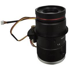 "FOCtek C-M16(12MP)-1F14-E  1.1"" 16mm Motorized Focus with F1.4 Manual Iris C-Mount Lens, 12 Megapixel Rated"