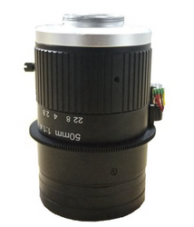 "FOCtek C-M50(12MP)-11F14-E  1.1"" 50mm Motorized Focus with F1.4 Manual Iris C-Mount Lens, 12 Megapixel Rated"