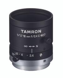 """Tamron M117FM16 1/1.7"""" 16mm F2.4 Manual Iris C-Mount Lens, 6 Megapixel Rated"""
