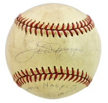 Yankees Joe DiMaggio Authentic Signed Official Reach Baseball BAS #A86806