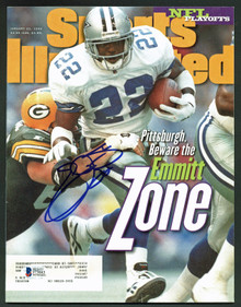 Cowboys Emmitt Smith Signed 1996 Sports Illustrated BAS Witnessed #J73843