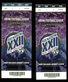 Pair (2) Arena Football League 2008 Arena Bowl XXII Tickets Un-signed
