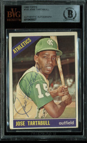 Athletics Jose Tartabull Authentic Signed 1966 Topps #143 Card BAS Slabbed