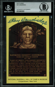 Ray Dandridge Authentic Signed 3.5x5.5 HOF Plaque Postcard BAS Slabbed