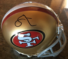 49ers Soloman Thomas Authentic Signed Mini Helmet w/ PPC COA & Signing Picture
