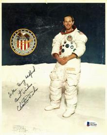 Charles Duke NASA Press Photo Authentic Signed 8x10 w/ Inscription BAS #D67060