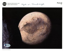 Pluto Discoverer Clyde W Tombaugh Authentic Signed NASA 8X10 Photo BAS #C57745