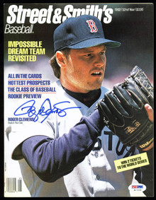 Red Sox Roger Clemens Signed 1992 Street & Smith's Magazine PSA/DNA #H17229