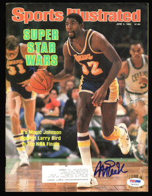 Lakers Magic Johnson Signed 1984 Sports Illustrated Magazine PSA/DNA #7A15327
