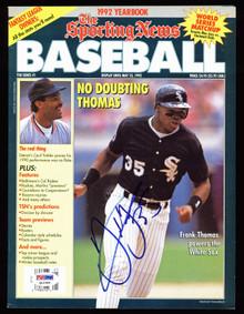 White Sox Rickie Weeks Authentic SignedThe Sporting News Magazine PSA #Q12356