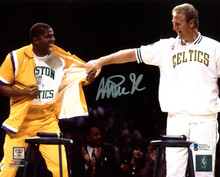 Lakers Magic Johnson Authentic Signed 8x10 Retirement Photo BAS Witnessed 11