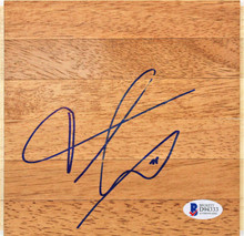 Knicks Frank Ntilikina Authentic Signed 6x6 Floorboard Autographed BAS #D94333