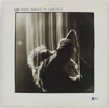 Adam Clayton U2 Signed Wide Awake In America Album Cover W/ Vinyl BAS #E44193