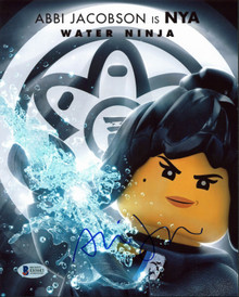 Abbi Jacobson The Lego Ninjago Movie Authentic Signed 8x10 Photo BAS #E85683
