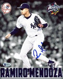 Yankees Ramiro Mendoza Authentic Signed 8x10 Photo Autographed BAS #D94595
