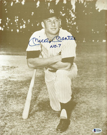 "Yankees Mickey Mantle ""No. 7"" Authentic Signed 11x14 Photo BAS #A11500"