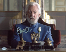 Donald Sutherland The Hunger Games Authentic Signed 11x14 Photo BAS #D01938