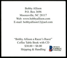Bobby Allison NASCAR Authentic Signed 3.25x3.75 Promotional Card BAS #E49025