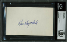 Dodgers Don Drysdale Authentic Signed 3x5 Index Card Autographed BAS Slabbed