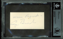 "George H.W. Bush ""Warm Regards"" Authentic Signed 1.35x2.8 Cut Signature BAS Slab"